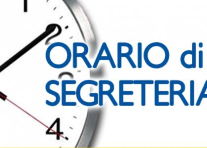 Miniatura per l'articolo intitolato:Orari apertura Segreteria