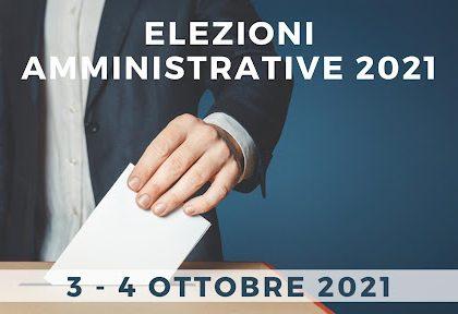 Miniatura per l'articolo intitolato:AVVISO: Elezioni AMMINISTRATIVE del 03 e 04 ottobre 2021